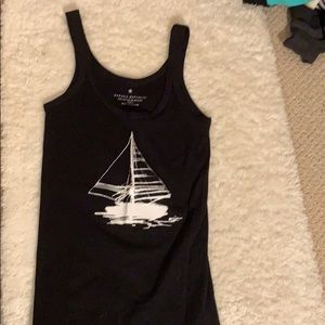 Banana Republic black sailboat tank top